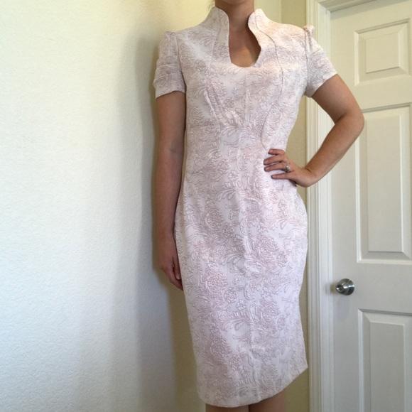7e2888e0 Alton Gray Dresses & Skirts - Alton Baker blush pink sparkle sheath dress  floral
